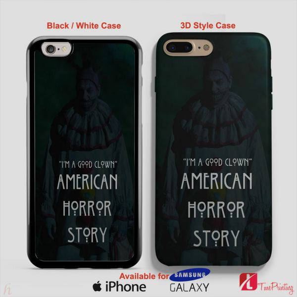 American Horror Story Twisty the Clown Asylum Story - Personalized iPhone 7 Case, iPhone 6/6S Plus, 5 5S SE, 7S Plus, Samsung Galaxy S5 S6 S7 S8 Case, and Other
