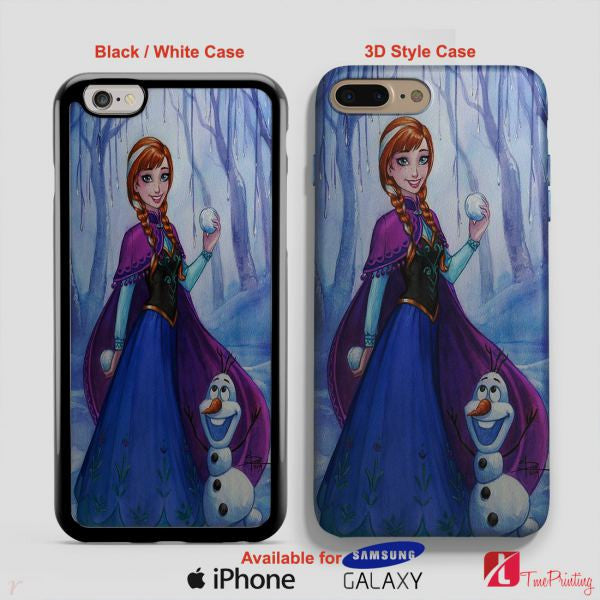 Anna Disney frozen Elsa Anna - Personalized iPhone 7 Case, iPhone 6/6S Plus, 5 5S SE, 7S Plus, Samsung Galaxy S5 S6 S7 S8 Case, and Other