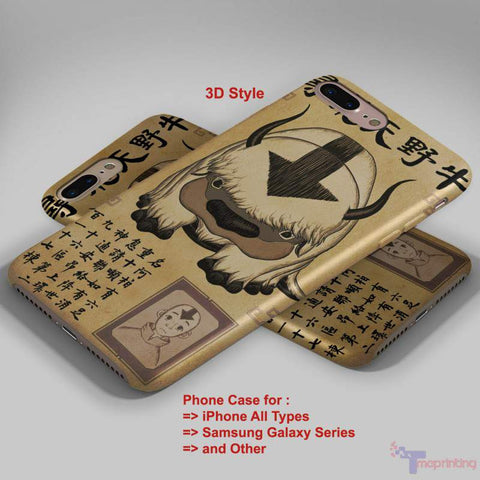 Appa The Last Air Bender - Personalized iPhone 7 Case, iPhone 6/6S Plus, 5 5S SE, 7S Plus, Samsung Galaxy S5 S6 S7 S8 Case, and Other
