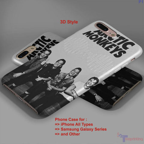 Arctic Monkeys Monkey and Band - Personalized iPhone 7 Case, iPhone 6/6S Plus, 5 5S SE, 7S Plus, Samsung Galaxy S5 S6 S7 S8 Case, and Other