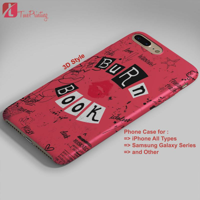 Burn Book Cover Mean Girls Personalized Iphone 7 Case Iphone 66s