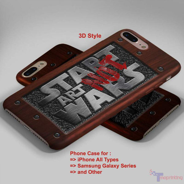Start Wars at Steel Plate and Wood Typograph - Personalized iPhone 7 Case, iPhone 6/6S Plus, 5 5S SE, 7S Plus, Samsung Galaxy S5 S6 S7 S8 Case, and Other