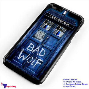 Tardis Doctor Who Bad Wolf - Personalized iPhone 7 Case, iPhone 6/6S Plus, 5 5S SE, 7S Plus, Samsung Galaxy S5 S6 S7 S8 Case, and Other