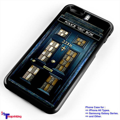 Tardis Sherlock Holmes Police Box Tardis - Personalized iPhone 7 Case, iPhone 6/6S Plus, 5 5S SE, 7S Plus, Samsung Galaxy S5 S6 S7 S8 Case, and Other