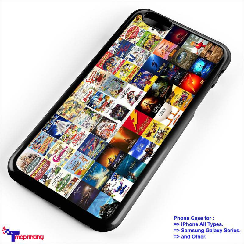 all poster disney Case - Personalized iPhone 7 Case, iPhone 6/6S Plus, 5 5S SE, 7S Plus, Samsung Galaxy S5 S6 S7 S8 Case, and Other