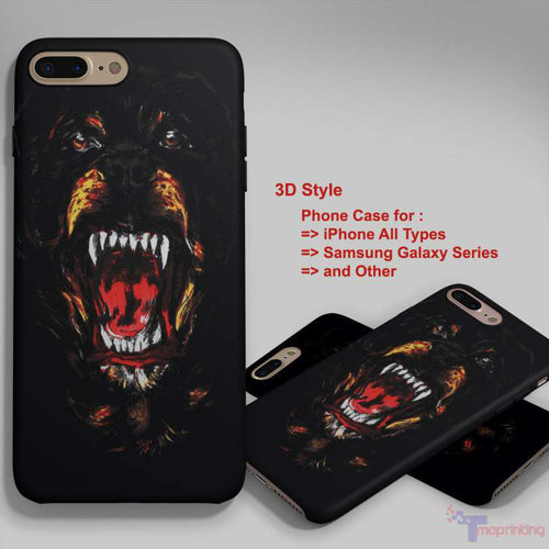 kanye west givenchy rottweirer - Personalized iPhone 7 Case, iPhone 6/6S Plus, 5 5S SE, 7S Plus, Samsung Galaxy S5 S6 S7 S8 Case, and Other