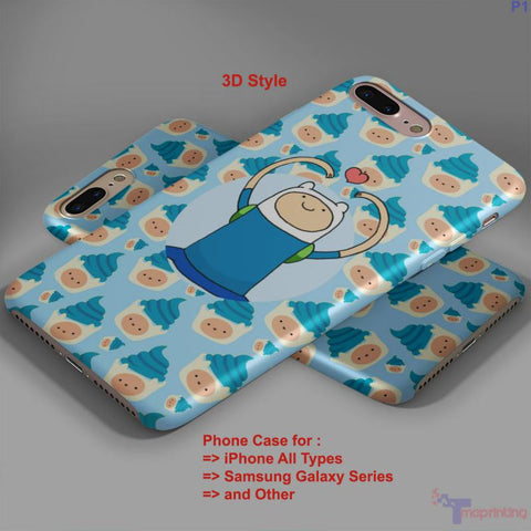 Adventure Time Gunter - Personalized iPhone 7 Case, iPhone 6/6S Plus, 5 5S SE, 7S Plus, Samsung Galaxy S5 S6 S7 S8 Case, and Other