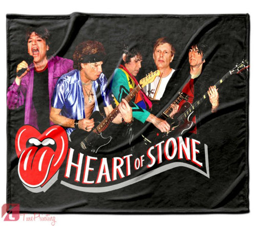 Rolling Stones tribute Band Personalized Blanket, Custom Blankets, 7