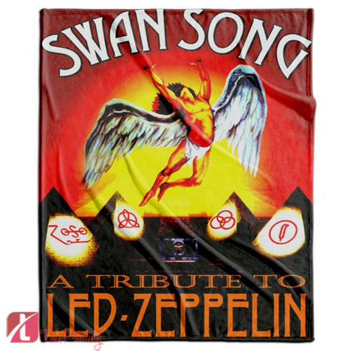 Led Zeppelin swan song Personalized Blanket, Custom Blankets, 10