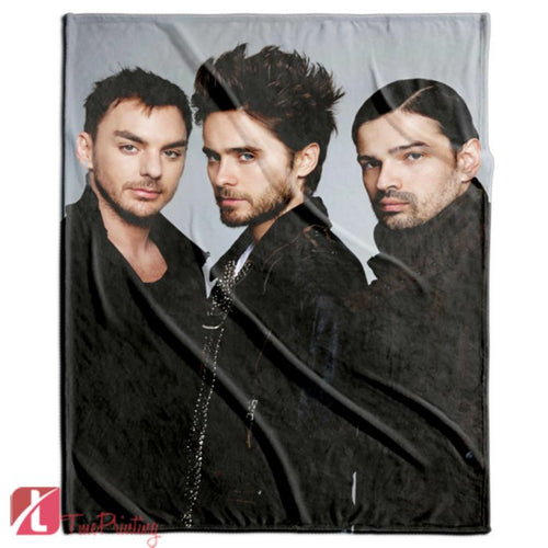 30 Seconds To Mars band Rock Personalized Blanket, Custom Blankets, 1
