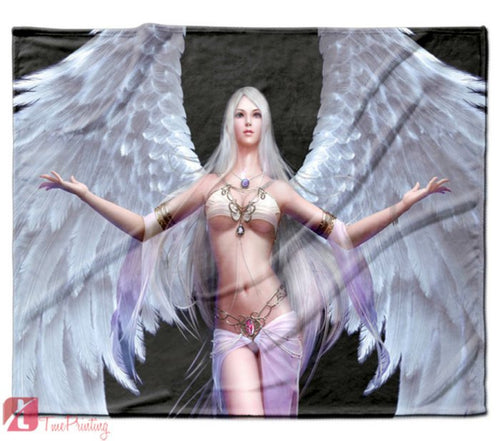 Angel Goddess Silia Forsaken Personalized Blanket, Custom Blankets, 2