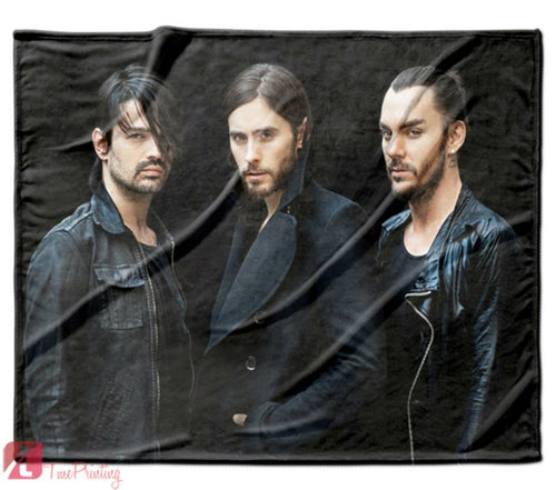 30 Seconds To Mars Music Personalized Blanket, Custom Blankets, 4