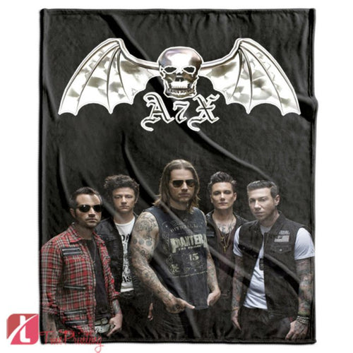 Avenged Sevenfold Logo music rocks Personalized Blanket, Custom Blankets, 8