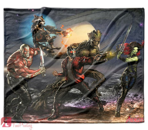 GUARDIANS OF THE GALAXY Marvel avengers Personalized Blanket, Custom Blankets, 12
