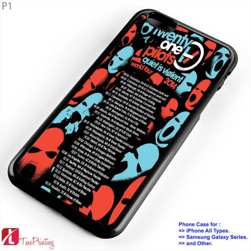 twenty one pilots tour dates - Personalized iPhone 7 Case, iPhone 6/6S Plus, 5 5S SE, 7S Plus, Samsung Galaxy S5 S6 S7 S8 Case, and Other