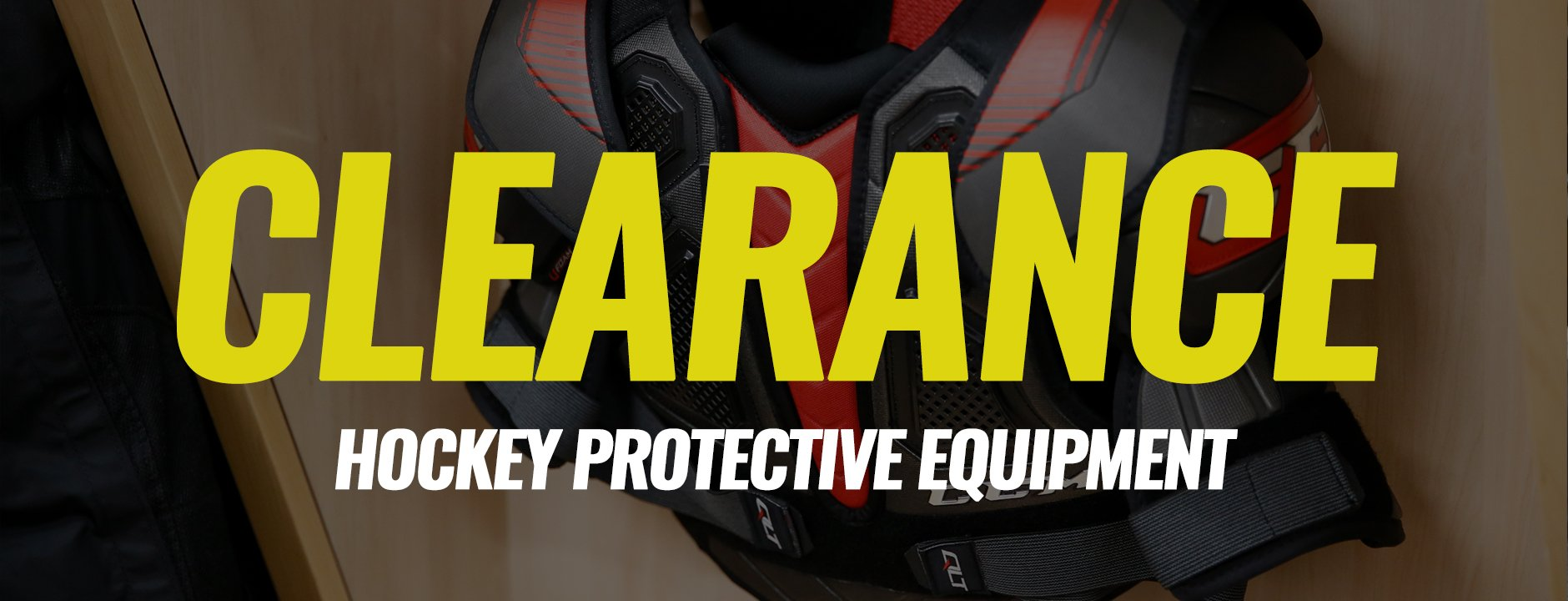 Clearance Protective Hockey Equipment