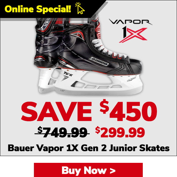 BAUER VAPOR 1X GEN 2 JUNIOR HOCKEY SKATES
