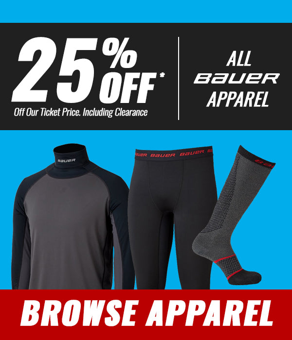 25% OFF Bauer Apparel