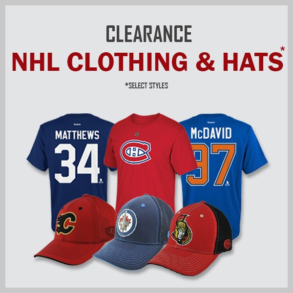 Clearance NHL Clothing & Hats