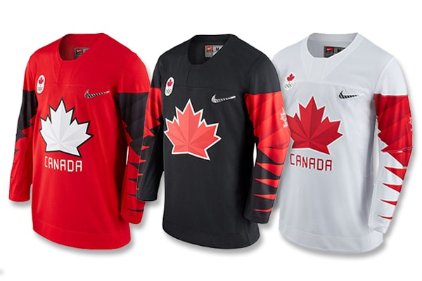 Nike Team Canada 2018 Olympic Jerseys