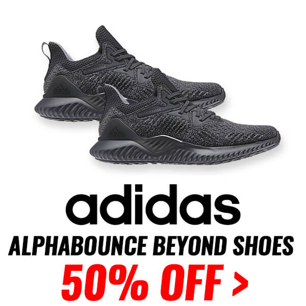 ADIDAS MEN'S ALPHABOUNCE BEYOND SHOES - BLACK