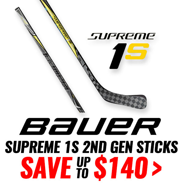 BAUER SUPREME 1S HOCKEY STICKS - 2017 MODELS