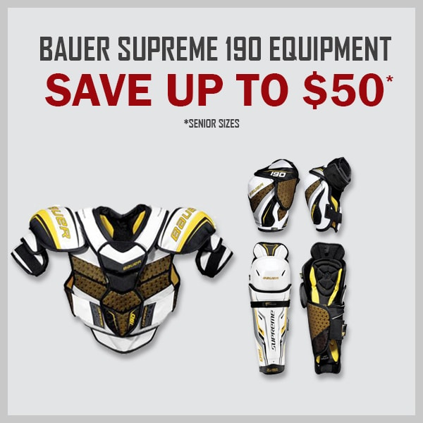 Bauer Supreme 190 SR Protective Equipment