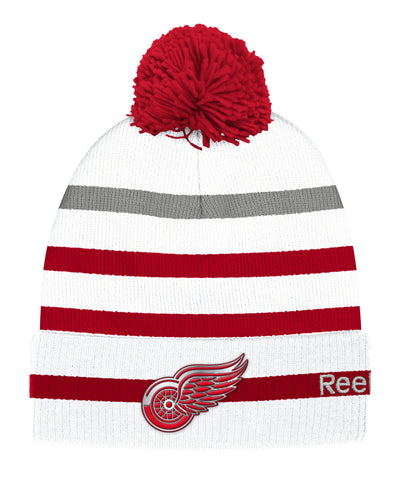 REEBOK DETROIT RED WINGS 2017 CC CUFFED POM KNIT SR TOQUE