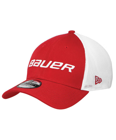 BAUER NEW ERA 39THIRTY MESH BACK SR CAP RED