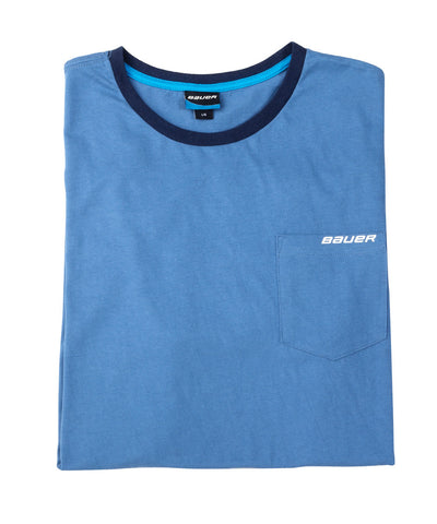 BAUER BABY BLUE SS MEN'S T-SHIRT