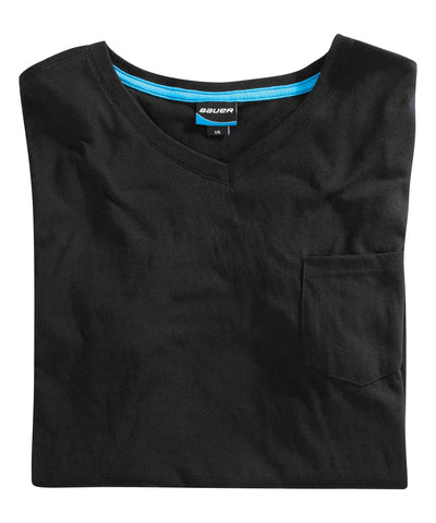 BAUER BASIC V-NECK SS MEN'S T-SHIRT