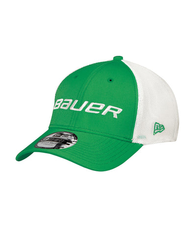 BAUER NEW ERA 39THIRTY KIDS MESH HAT GREEN