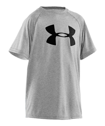 UNDER ARMOUR TECH BIG LOGO KIDS T-SHIRT GREY
