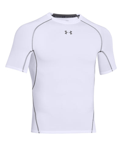 UNDER ARMOUR HEATGEAR ARMOUR MEN'S T-SHIRT WHITE