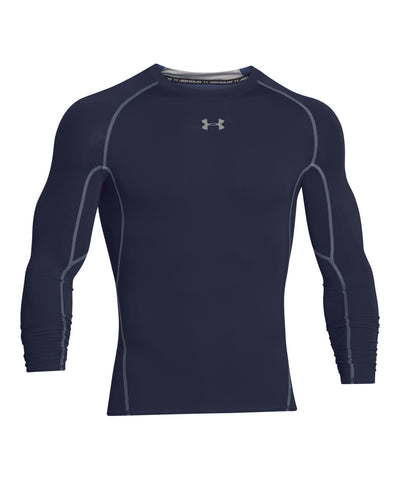 UNDER ARMOUR HEATGEAR ARMOUR MEN'S LONG SLEEVE SHIRT NAVY