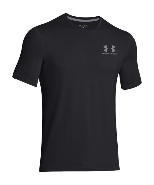 UNDER ARMOUR CHARGED COTTON SPORTSTYLE SR T-SHIRT BLACK