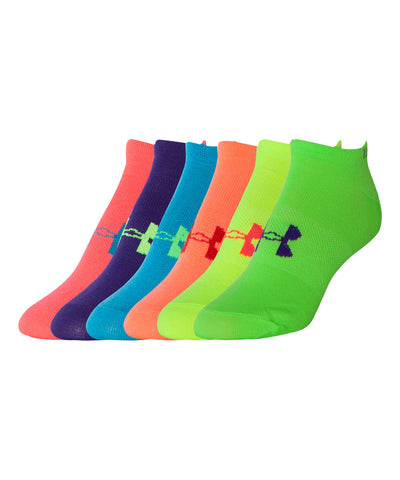 UNDER ARMOUR BIG LOGO NO SHOW WOMEN'S SOCKS 6-PACK