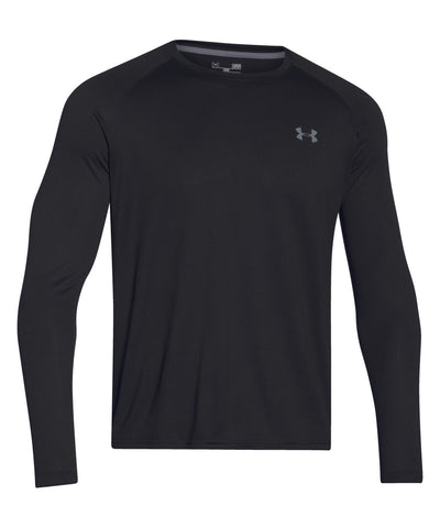 UNDER ARMOUR TECH LS SR T-SHIRT BLACK