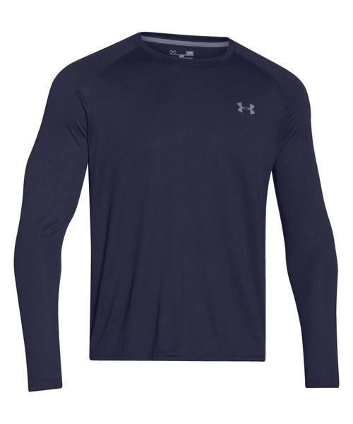 UNDER ARMOUR TECH LS SR T-SHIRT NAVY