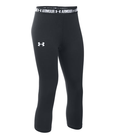 UNDER ARMOUR GIRLS CAPRIS BLACK
