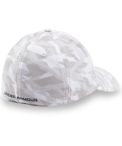 UNDER ARMOUR PRINT BLITZING STR FIT MEN'S CAP WHITE GREY