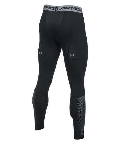 UNDER ARMOUR PURESTRIKE GRIPPY SR LEGGING WITH CUP BLACK STEEL