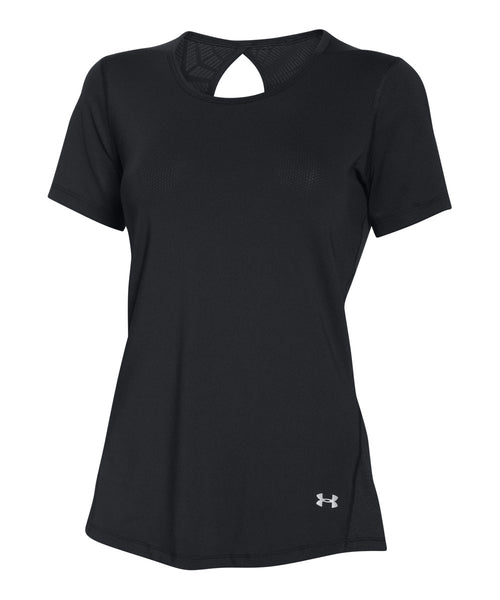 UNDER ARMOUR COOLSWITCH BLACK WOMEN'S SS T-SHIRT