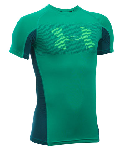 UNDER ARMOUR ARMOUR UP GRID SS JR T-SHIRT GREEN