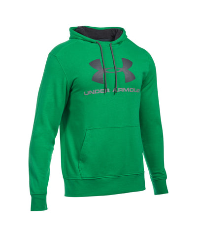 UNDER ARMOUR TRIBLEND SPORTSTYLE LOGO SR HOODY GREEN