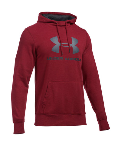 UNDER ARMOUR TRIBLEND SPORTSTYLE LOGO SR HOODY CARDINAL RED