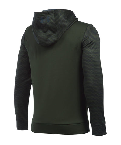 UNDER ARMOUR FLEECE STORM MID LOGO KIDS HOODIE ARTILLERY GREEN