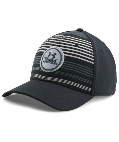 UNDER ARMOUR STRIPES LOW CROWN MEN'S CAP BLACK