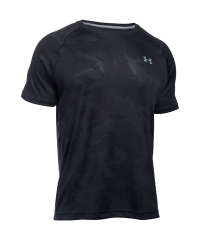 UNDER ARMOUR TECH JACQUARD SS SR T-SHIRT BLACK