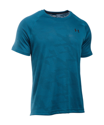 UNDER ARMOUR TECH JACQUARD SS SR T-SHIRT PEACOCK BLUE